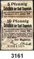P A P I E R G E L D   -   N O T G E L D,Brandenburg Sammlung von  BELZIG bis ZIEGENHALS.  196 meist verschiedene Serienscheine.  In einem Album.  Dabei Tieste 8220.05.15 und 18(Ziegenhals).