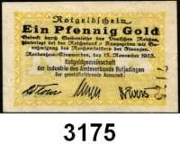 P A P I E R G E L D   -   N O T G E L D,Niedersachsen Nordenham/EinswardenNotgeldgemeinschaft der Industrie des Amtsverbandes Butjadingen.  1 Pfennig Gold 15.11.1923.  Müller 3515.1.