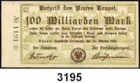 P A P I E R G E L D   -   N O T G E L D,Westfalen Rauxel1 Milliarde Mark, 5, 10, 20, 50 und 100 Milliarden Mark 20.10.1923.  Keller 4451.c.  LOT 6 Scheine.