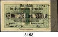 P A P I E R G E L D   -   N O T G E L D,Bayern TraunsteinStadtgemeinde,  5 Millionen Mark 10.8.1923 und 1 Billion Mark 9.11.1923.  Bezirks-Sparkassa,  2x 1 Billion Mark 9.11.1923.  Keller 5188.b, d, 5189.i.  LOT 4 Scheine.