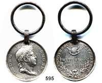 Orden, Ehrenzeichen, Militaria, Zeitgeschichte,Deutschland HannoverWaterloo-Medaille mit Öse.  Randschrift :  SOLDAT HERM. GERH. AHAUS LANDW. BAT. QUACKENBRUECK.