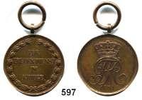 Orden, Ehrenzeichen, Militaria, Zeitgeschichte,Deutschland Mecklenburg - SchwerinKriegsdenkmünze für 1808-1815 (1841).  Randschrift : MEYENBURG.