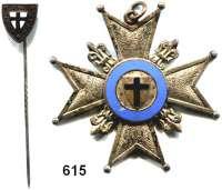 Orden, Ehrenzeichen, Militaria, Zeitgeschichte,Deutschland FreikorpsFreikorps (?),  Emailliertes Kreuz (Buntmetall, versilbert) dazu Steckabzeichen