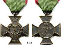 Orden, Ehrenzeichen, Militaria, Zeitgeschichte,Deutschland AnhaltFriedrichskreuz 1914.  Bronze.  Am Originalband.