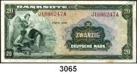 P A P I E R G E L D,BUNDESREPUBLIK DEUTSCHLAND 20 Deutsche Mark 1948.