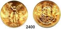 AUSLÄNDISCHE MÜNZEN,Mexiko Republik seit 18671/2 Onza Ora Pura 1981 (15,55 g FEIN).  Schön B 80.  KM 488.  Fb. 179.  GOLD.