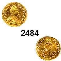 AUSLÄNDISCHE MÜNZEN,Russland Katharina II. 1762 - 1796Poltina (1/2 Rubel) 1777, St. Petersburg.  0,64 g.  Bitkin 116.  Fb. 136.  Craig 75.  GOLD