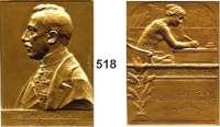 M E D A I L L E N,Medailleur Heinrich Kautsch (1859 - 1943) 1911.  Bronzeplakette.  Victor Mataja, k. u k. Geheimrat.  Freundschaftlichst zugeeignet von H. Kautsch.  47 x 65 mm.  90 g.