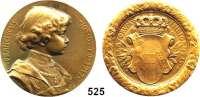 M E D A I L L E N,Medailleur Heinrich Kautsch (1859 - 1943) 1917.  Bronzemedaille.  Otto von Habsburg.  Brustbild des 5jährigen Otto.  65 mm.  114 g.