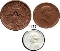 MEDAILLEN AUS PORZELLAN,Moderne Medaillen - Staatliche Porzellanmanufaktur MEISSEN L O T S      L O T S      L O T SLOT von 22 modernen Medaillen (12x braun und 10x weiß).  Darunter Carl Wilhelm Scheele(2); Greifswald(4); Stralsund(4); Rostock(4) und Luther-Medaille Wittenberg 1821(weiß).