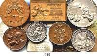 M E D A I L L E N,Landwirtschaft LOT von 15 Medaillen zum Thema Geflügelzucht.  Meist mit Abbildung von Geflügel.  Darunter Berlin 1900; Ministerium für Landwirtschaft, Domänen und Forsten