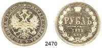 AUSLÄNDISCHE MÜNZEN,Russland Alexander II. 1855 - 1881Rubel 1875, St. Petersburg.  Bitkin 88.