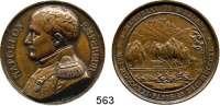 M E D A I L L E N,Napoleon und seine Zeit Bronzemedaille 1840 (A. Bovy).  Grabstätte auf St. Helena.  Brb. n. l. / Grabstätte.  41,4 mm.  37,76 g.