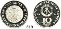 Deutsche Demokratische Republik   PP-Patina !!!!!, 10 Mark 1981    700 Jahre Münzprägung in Berlin    Goldgulden-Probe