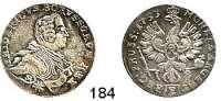 Deutsche Münzen und Medaillen,Preußen, Königreich Friedrich II. der Große 1740 - 178618 Gröscher 1753 E, Königsberg (mit St am Armabschnitt).  6,07 g. Kluge 214.2/2043.   v.S. 963.  Olding 184 a.