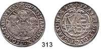 Deutsche Münzen und Medaillen,Sachsen Christian II., Johann Georg und August 1591 - 16111/4 Taler 1598 HB, Dresden.  7,16 g.  Keilitz/Kahnt 199.