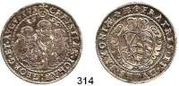 Deutsche Münzen und Medaillen,Sachsen Christian II., Johann Georg und August 1591 - 16111/2 Taler 1599 HB, Dresden.  14,45 g.  Keilitz/Kahnt 198.