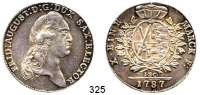 Deutsche Münzen und Medaillen,Sachsen Friedrich August III. 1763 - 1806 (1827)Konventionstaler 1787 IEC, Dresden.  28,07 g.  Kahnt 1081.  Buck 159/161.  Dav. 2695.