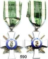 Orden, Ehrenzeichen, Militaria, Zeitgeschichte,Deutschland SachsenAlbrechtsorden Ritterkreuz, II. Klasse mit Schwertern.  Am unteren Kreuzarm punziert