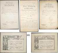 Orden, Ehrenzeichen, Militaria, Zeitgeschichte,Deutschland L O T S      L O T S      L O T SPapierkonvolut.  8 Stück.