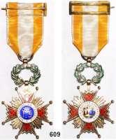 Orden, Ehrenzeichen, Militaria, Zeitgeschichte,Ausland SpanienOrden Isabel la Catolica, Silber vergoldet, Öse punziert, im Originaletui.