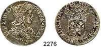 AUSLÄNDISCHE MÜNZEN,Frankreich Ludwig XIV. 1643 - 17151/2 Ecu a la meche longue 1658 L, Bayonne.  12,99 g.  Duplessy 1470.  KM 164.12.