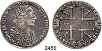 AUSLÄNDISCHE MÜNZEN,Russland Peter I. der Große 1689 - 1725Rubel 1725, 28,64 g.  Bitkin 962ff.  Dav. 1662.