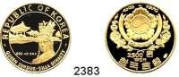 AUSLÄNDISCHE MÜNZEN,Korea/Süd 2500 Won 1970 (8,71g fein).  5000 Jahre Korea - Seondeck, Königin von Silla.  Schön 66.  KM 15.  Fb. 4.  GOLD