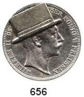 R E I C H S M Ü N Z E N,Preussen, Königreich Wilhelm II. 1888 - 19183 Mark 1911.  Mit aufgelötetem Zylinder