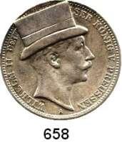 R E I C H S M Ü N Z E N,Preussen, Königreich Wilhelm II. 1888 - 19183 Mark 1912.  Mit aufgelötetem Zylinder