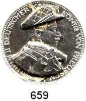 R E I C H S M Ü N Z E N,Preussen, Königreich Wilhelm II. 1888 - 19183 Mark 1914.  Mit aufgelöteter Mütze und Kragen.