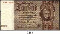 P A P I E R G E L D,R E I C H S B A N K 1000 Reichsmark  22.2.1936.  Mit Perforation