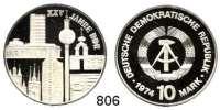 Deutsche Demokratische Republik   PP-Patina !!!!!, 10 Mark 1974.  25. Jahrestag der DDR - Städtemotiv.