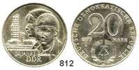 Deutsche Demokratische Republik   PP-Patina !!!!!, 20 Mark 1979/1973.  30.Jahrestag der DDR.  Probe.  Wertseite mit der Jahreszahl 1973 (von 20 Mark Grotewohl).
