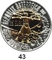 Österreich - Ungarn,Österreich 2. Republik ab 194525 Euro 2011 (Bi-Metall Silber/Niob).  Robotik.  Schön 383.  KM 3204.  Im Originaletui mit Zertifikat.