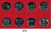 Deutsche Demokratische Republik   PP-Patina !!!!!,K U R S S Ä T Z E Schadowfries-Satz 1984  Mzz. A.  8 Kupfer-Nickel-Medaillen.  Im Originalrahmen (rot)