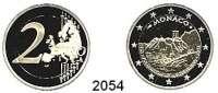 AUSLÄNDISCHE MÜNZEN,E U R O  -  P R Ä G U N G E N Monaco2 EURO 2015.  800. Jahrestag des Baues des 1. Schloßes auf dem Felsen.  Im Originaletui mit Zertifikat.