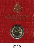AUSLÄNDISCHE MÜNZEN,E U R O  -  P R Ä G U N G E N Vatikan2 EURO 2008.  Paulus-Jahr.  Schön 401.  KM 404.