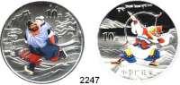 AUSLÄNDISCHE MÜNZEN,China Volksrepublik seit 194910 Yuan 2011 (Silberunzen, Farbmünzen).  Chinesische Literatur -