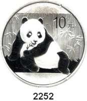 AUSLÄNDISCHE MÜNZEN,China Volksrepublik seit 194910 Yuan 2015.  Panda vor Bambus.