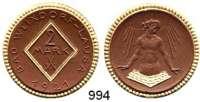 P O R Z E L L A N M Ü N Z E N,S T Ä D T E M Ü N Z E N Weixdorf-Lausa2 Mark 1921 braun, Rand, Rhombuseinfassung und die Wellen gold.  Menzel 26467.23.