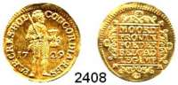 AUSLÄNDISCHE MÜNZEN,Niederlande Holland, Provinz.Dukat 1729.  3,51 g.  Delmonte 775.  KM 12.2.  Fb. 250.  GOLD