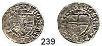 Deutsche Münzen und Medaillen,Danzig, Stadt Ulrich von Jungingen 1407 - 1410Schilling o.J., Danzig.  1,68 g.  Neumann 8 a.  Dutkowski/Suchanek 19.