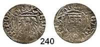 Deutsche Münzen und Medaillen,Danzig, Stadt Kasimir Jagiello 1446 - 1492Schilling o.J. 1,30 g.  Doppelschlag.