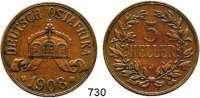 Besetzte Gebiete  -  Kolonien  -  Danzig,Deutsch - Ostafrika 5 Heller 1908 J.