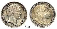 Deutsche Münzen und Medaillen,Bayern Ludwig I. 1825 - 1848Geschichtsdoppeltaler 1842.  Kronprinzenhochzeit.  Kahnt 108 b.  AKS 104. Jg. 72. Thun 81.  Dav. 588.