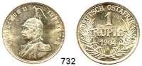 Besetzte Gebiete  -  Kolonien  -  Danzig,Deutsch - Ostafrika 1 Rupie 1904 A.