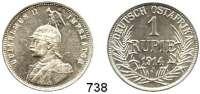 Besetzte Gebiete  -  Kolonien  -  Danzig,Deutsch - Ostafrika 1 Rupie 1914 J.