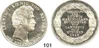 Deutsche Münzen und Medaillen,Bayern Ludwig I. 1825 - 1848Geschichtstaler 1826.  Verlegung der Ludwig Maximilians Hochschule von Landshut nach München.  Kahnt 78.  AKS 115.  Jg. 33.  Thun 50.  Dav. 557.