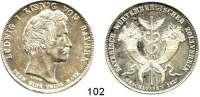 Deutsche Münzen und Medaillen,Bayern Ludwig I. 1825 - 1848Geschichtstaler 1827.  Bayerisch-Württembergischer Zollverein.  Kahnt 79.  AKS 116.  Jg. 34.  Thun 52.  Dav. 559.